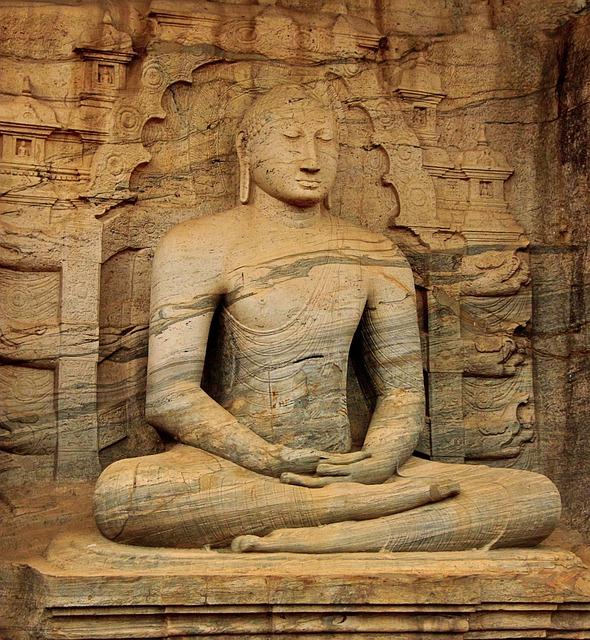 Old Meditation Statue